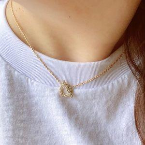 HERMES Finesse pendant 750gold&diamond necklace